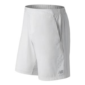 Men`s Tournament 9 Inch Tennis Short White