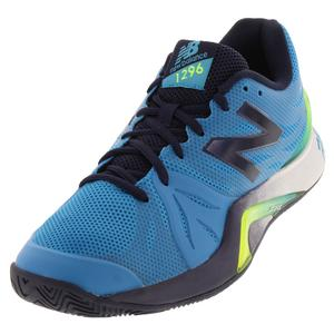 Men`s 1296v2 2E Width Tennis Shoes Maldives Blue and Pigment