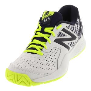 Men`s 696v3 D Width Tennis Shoes Hi-Lite and Pigment