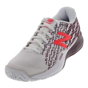 Women`s 996v3 B Width Tennis Shoes White and Oxblood