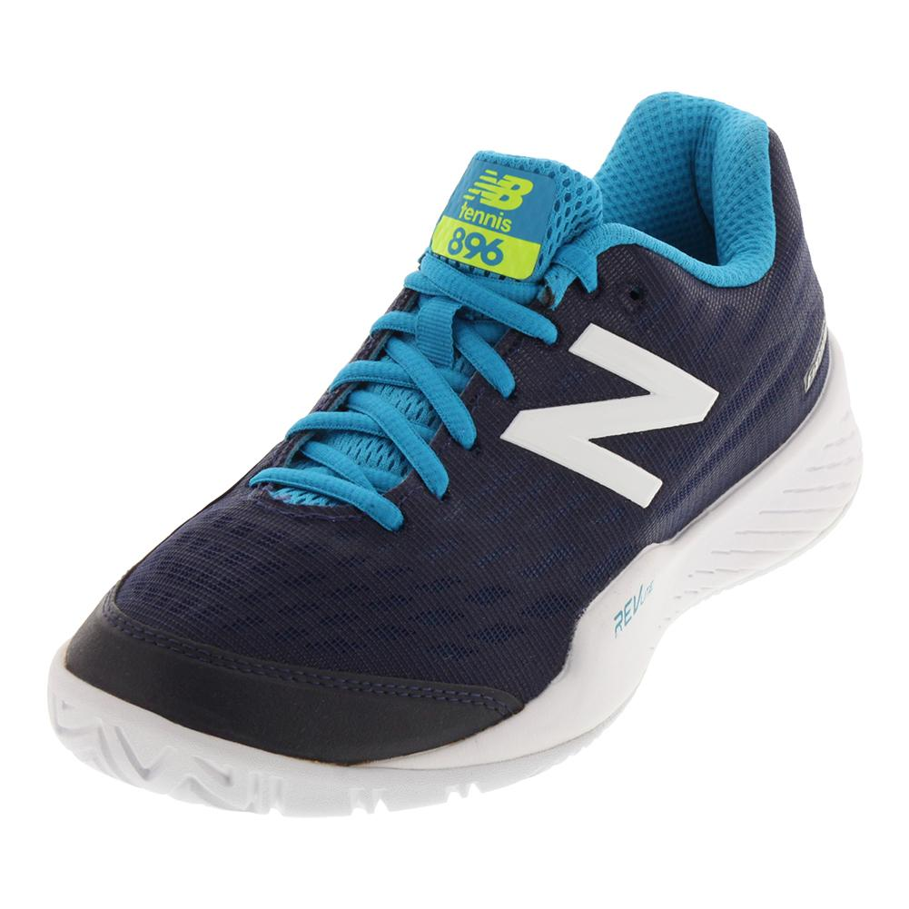 Women's 896v2 B Width Tennis Shoes Pigment And Maldives Blue