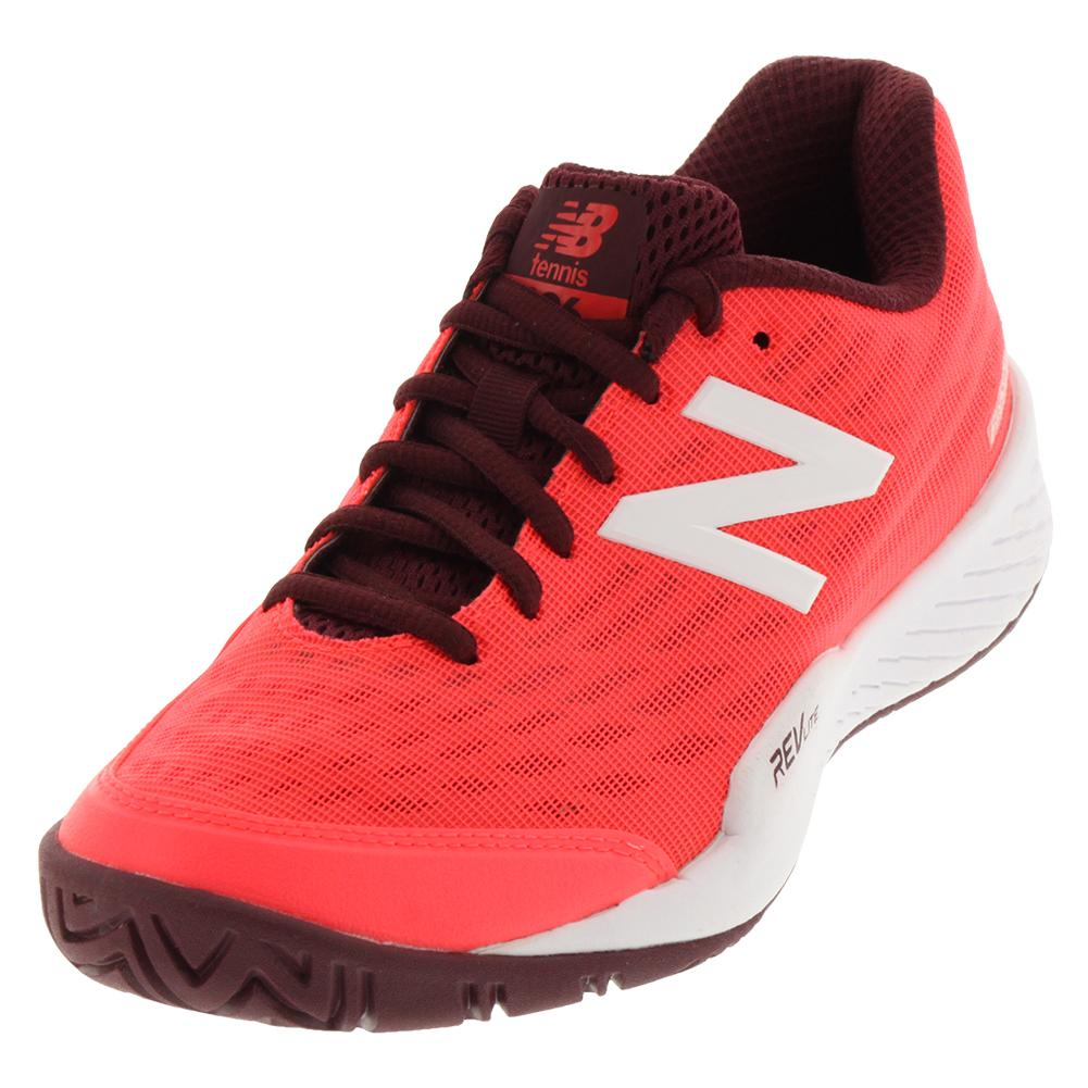 cc170d375e31 New Balance Women s 896V2 B Width Tennis Shoe in Vivid Coral