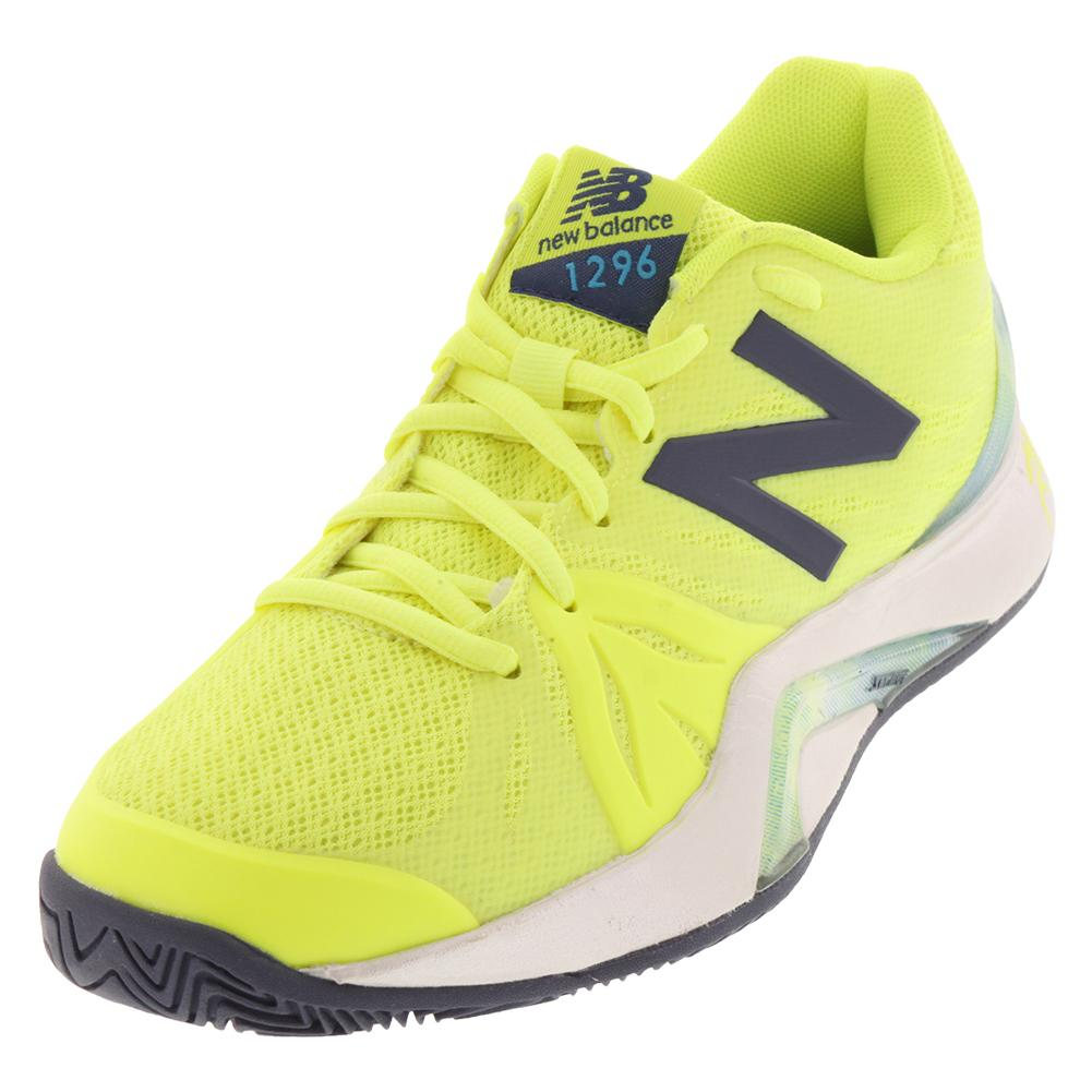Women's 1296v2 B Width Tennis Shoes Yellow And Gray