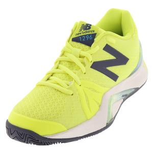 Women`s 1296v2 B Width Tennis Shoes Yellow and Gray