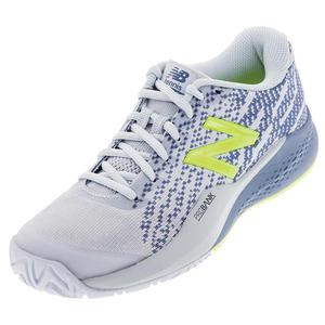 Women`s 996v3 D Width Tennis Shoes Blue and Solar Yellow