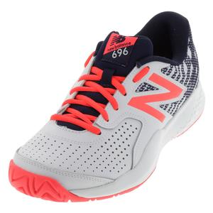 Women`s 696v3 D Width Tennis Shoes Pigment and Vivid Coral