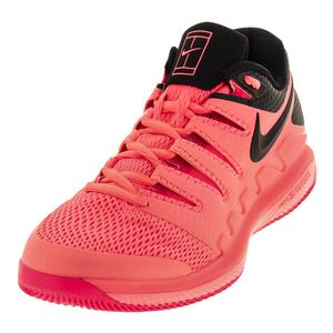 Men`s Air Zoom Vapor 10 Tennis Shoes Lava Glow and Black
