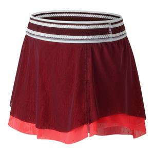 Women`s Heath Tennis Skort 2 Oxblood and Vivid Coral