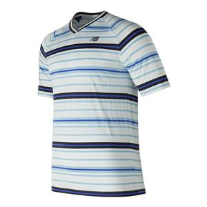 Men`s Tourn V Neck Tennis Top White Multi