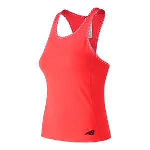 Women`s Gold Racerback Tennis Tank Vivid Coral