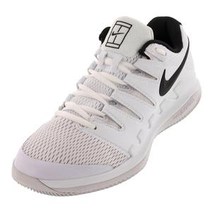 Juniors` Air Zoom Vapor 10 Tennis Shoes White and Black