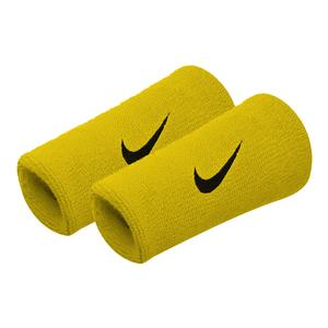 Premier Double Wide Tennis Wristbands Bright Citron and Black