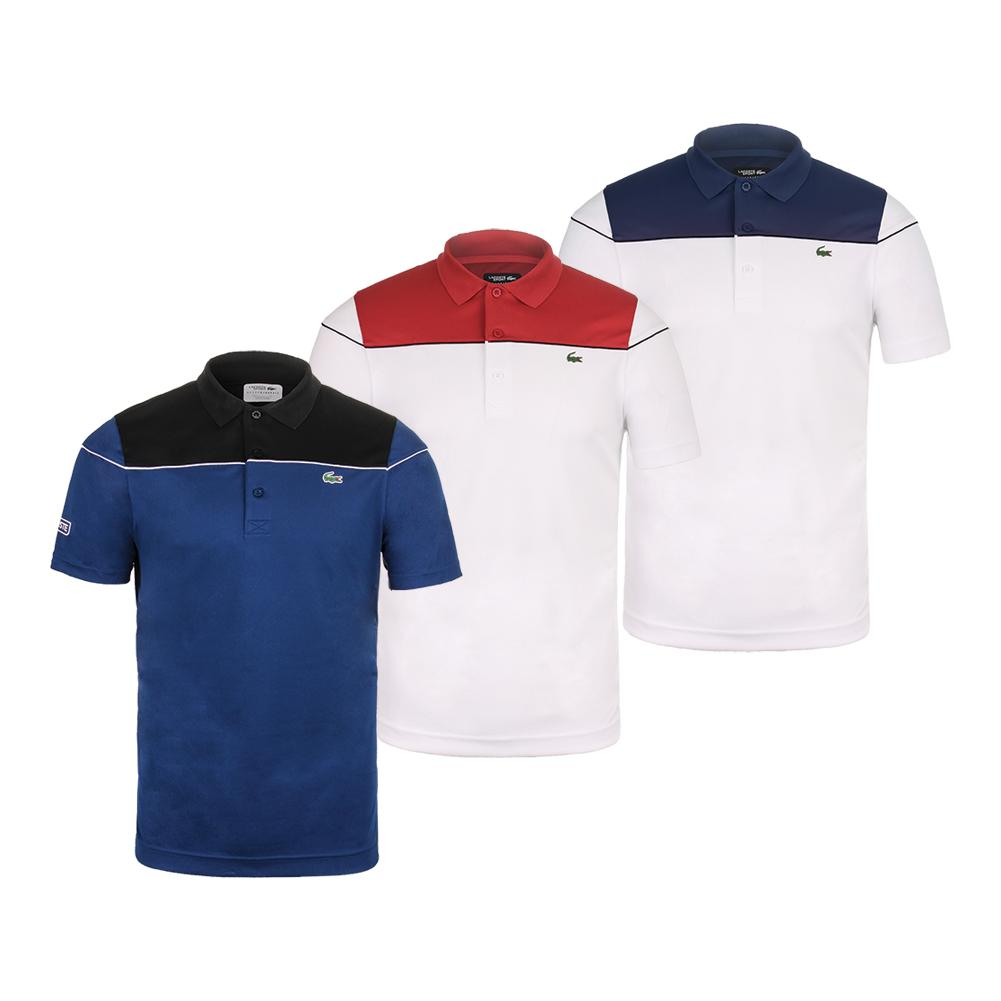 c702b0754 Lacoste Men's Short Sleeve Pique Ultra Dry Tennis Polo