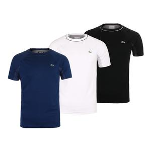 Men`s Short Sleeve Ultra Dry Pique with Mesh Back Tennis Top