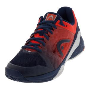 Men`s Revolt Pro 2.5 Tennis Shoes Blue and Flame Orange