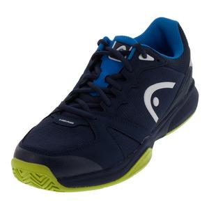 Men`s Revolt Team 2.5 Tennis Shoes Black Iris and Apple Green