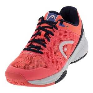 Women`s Revolt Pro 2.5 Tennis Shoes Coral and Black Iris