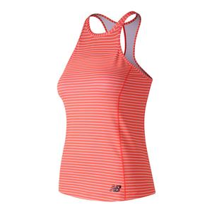 Women`s Printed Rally Court Tennis Tank Vivid Coral