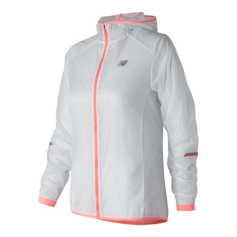 NEW BALANCE - Women`s Ultralight Tennis Packjacket White - (WJ81240-WTS18)