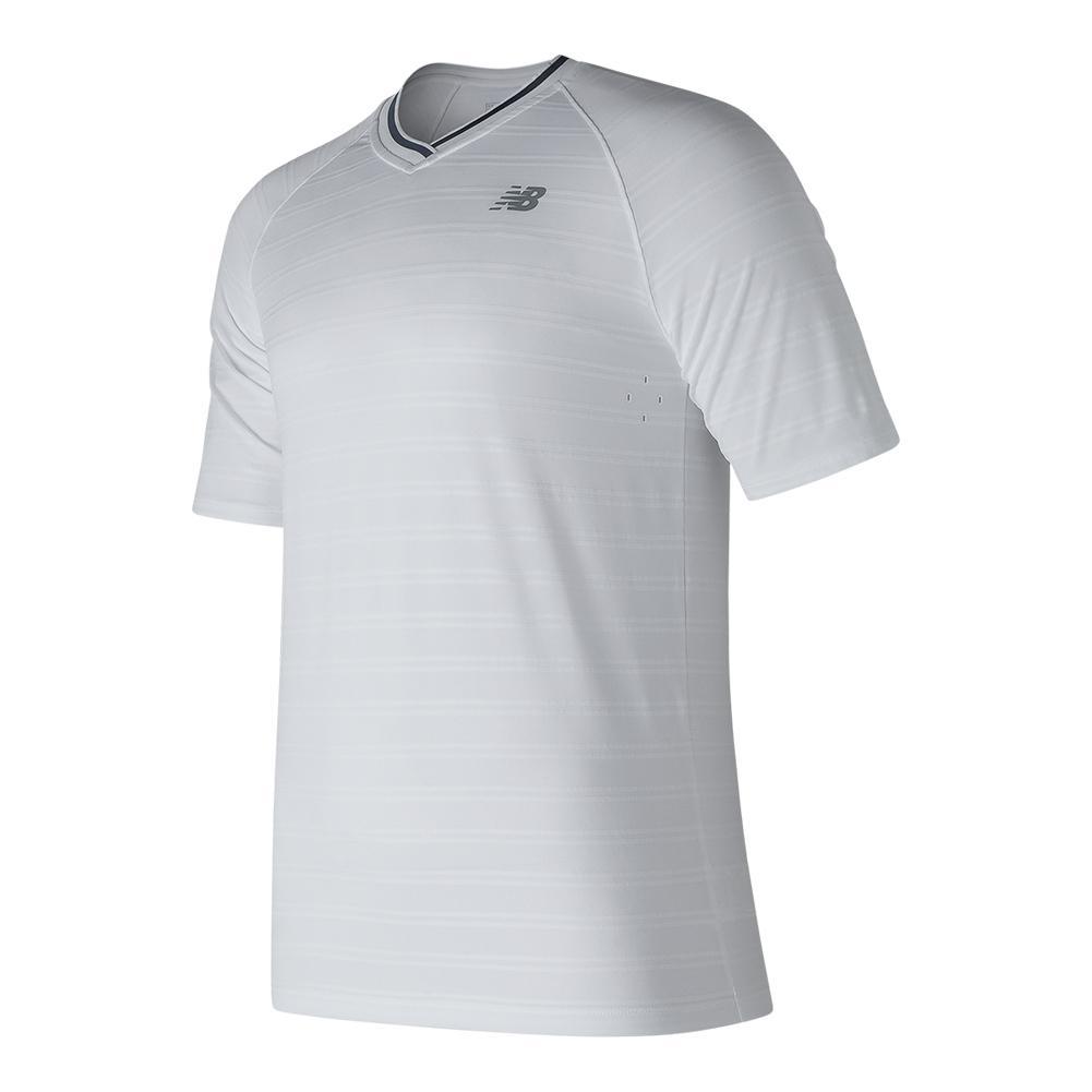 Men's Tournament V Neck Tennis Top White