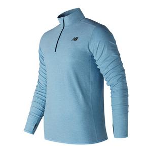 Men`s N Transit Quarter Zip Tennis Top Clear Sky and North Sea