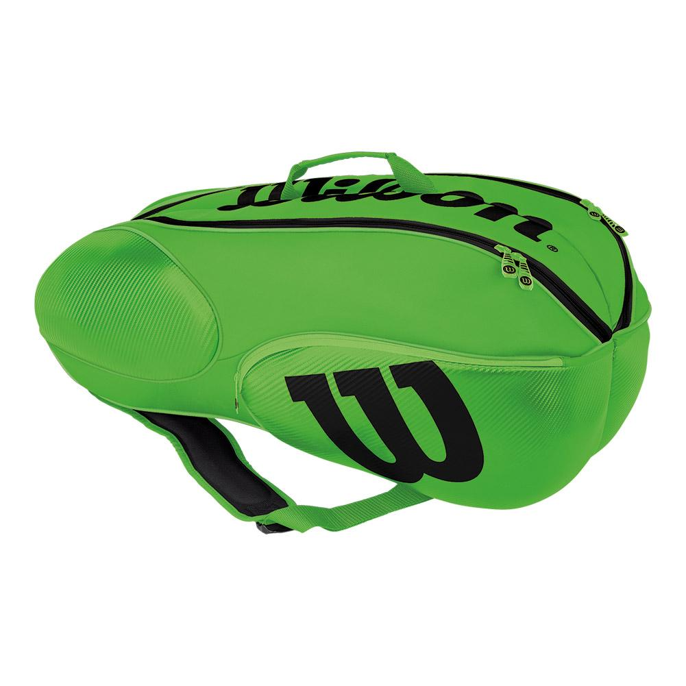 Wilson Junior Mini Vancouver 6 Pack Tennis Bag Green And Black