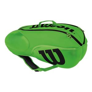 Junior Mini Vancouver 6 Pack Tennis Bag Green and Black
