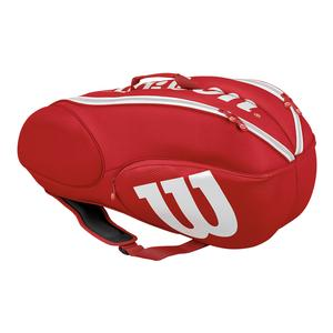 Junior Mini Vancouver 6 Pack Tennis Bag Red and White