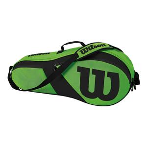 Match III 3 Pack Tennis Bag Green and Black