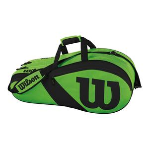 Match III 6 Pack Tennis Bag Green and Black