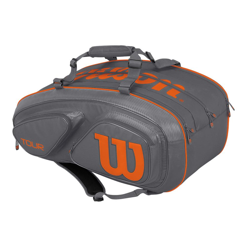 Tour V 15 Pack Tennis Bag Gray And Orange