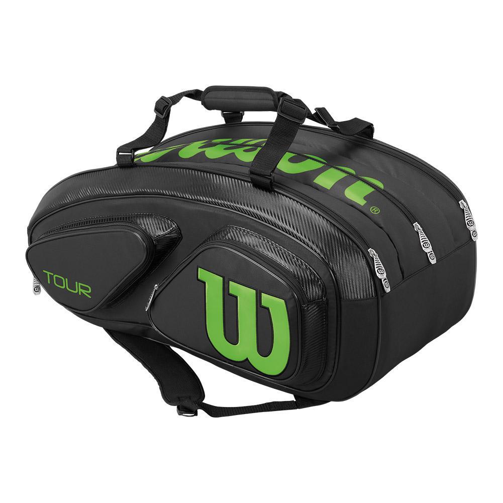 Tour V 15 Pack Tennis Bag Black And Lime