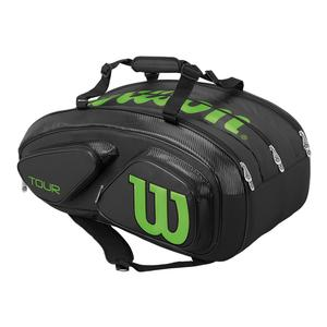Tour V 15 Pack Tennis Bag Black and Lime