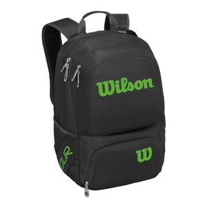 Tour V Medium Tennis Backpack Black and Lime