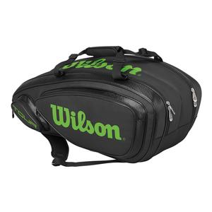 Tour V 9 Pack Tennis Bag Black and Lime