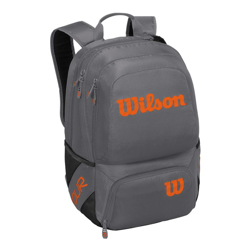 09c56e6391 Wilson Tour V Medium Backpack in Gray and Orange
