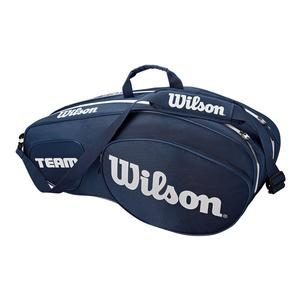 Team III 6 Pack Tennis Bag Blue and White