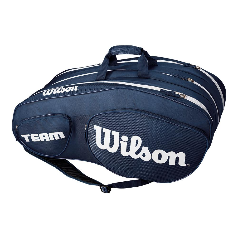 Team Iii 12 Pack Tennis Bag Blue And White