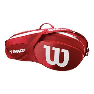 Team III 3 Pack Tennis Bag Red and White
