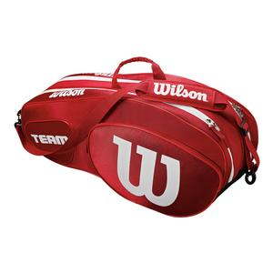 Team III 6 Pack Tennis Bag Red and White