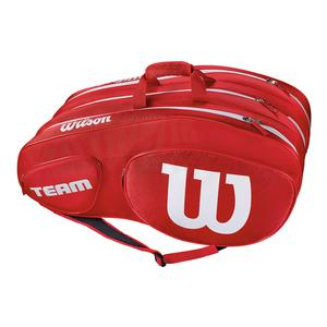 Team III 12 Pack Tennis Bag Red and White