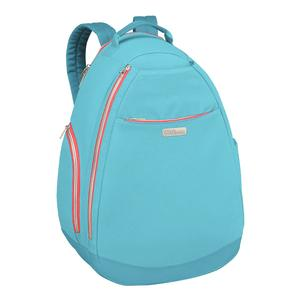 Women`s Tennis Backpack Aqua and Coral