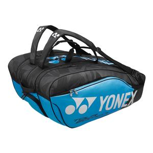 Pro 12 Pack Tennis Bag Black and Blue