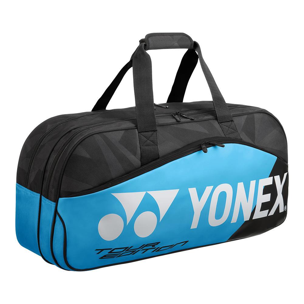 Yonex Pro Tournament Tennis Bag Black And Blue