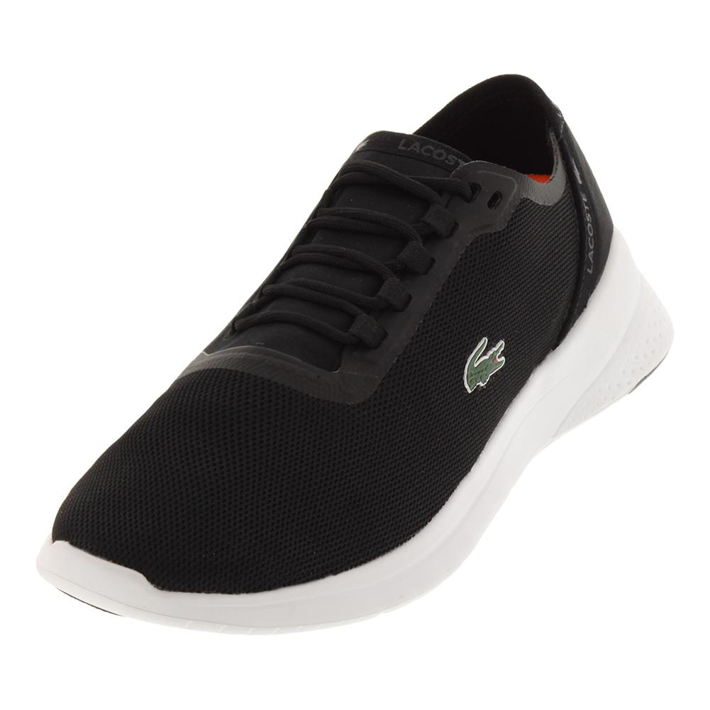 Lacoste mens fit tennis shoes black and dark gray jpg 1001x1001 Black  tennis shoes b489223b5