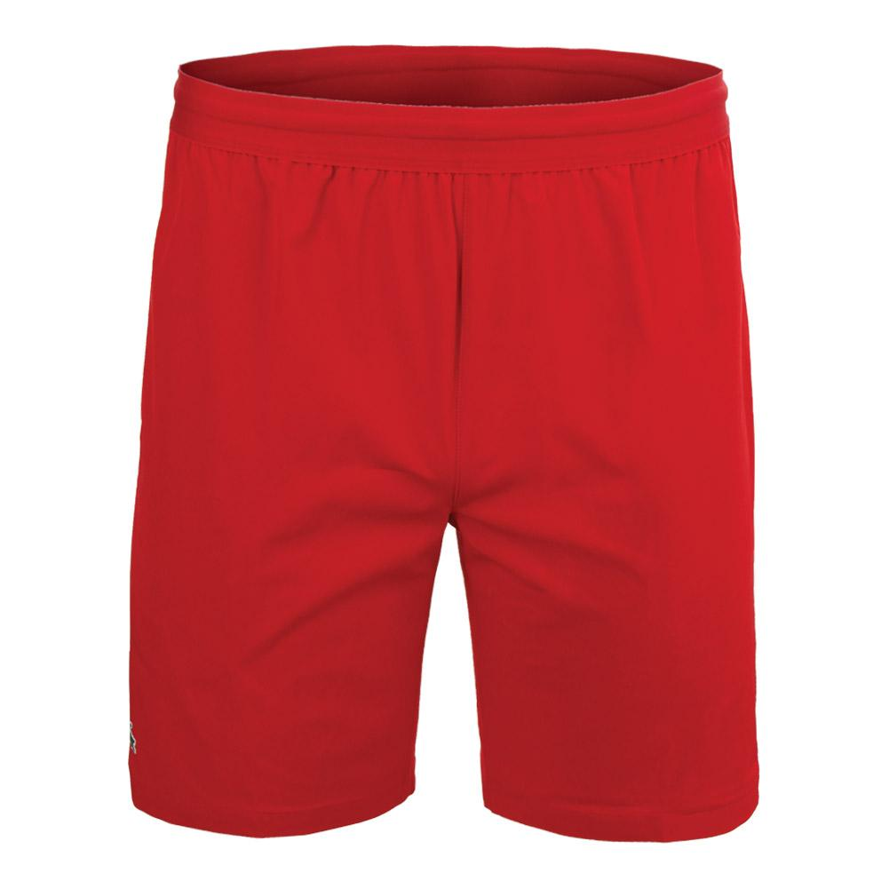 6b4a9022f Men`s Novak Djokovic 7 Inch Stretch Woven Tennis Short 938 RED BLACK