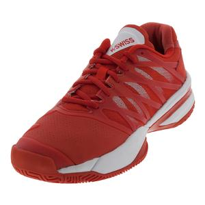 Women`s Ultrashot Tennis Shoes Fiesta and White