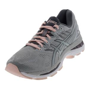 Women`s Gel-Nimbus 20 Running Shoes Mid Gray and Seashell Pink