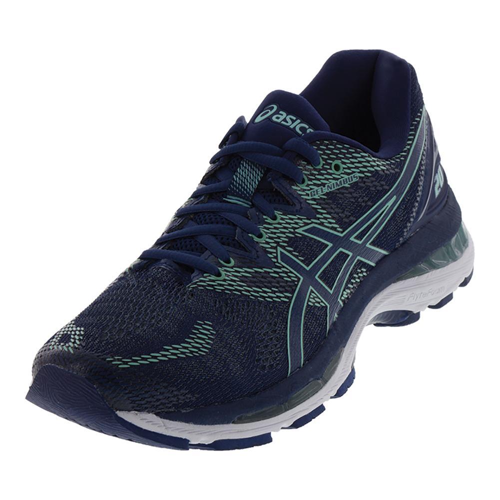 Women's Gel- Nimbus 20 Running Shoes Indigo Blue And Green