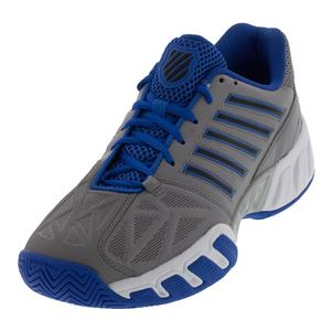 Men`s Bigshot Light 3 Tennis Shoes Titanium and Strong Blue